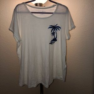 Lucky Brand Vintage Style TShirt with Embroider 🌴
